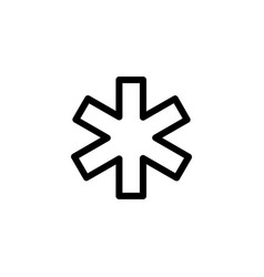 Hospital ems outline icon vector