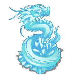 Ice figurine of serpent dragon animal vector