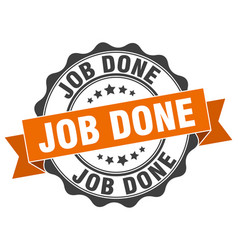 Job done stamp sign seal vector