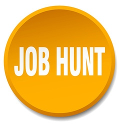 Job hunt orange round flat isolated push button vector