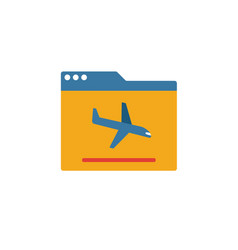 landing page icon simple element from smm icons vector image