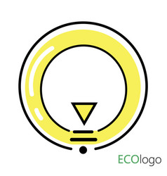 logo is energy logo a stylized light bulb in a vector image