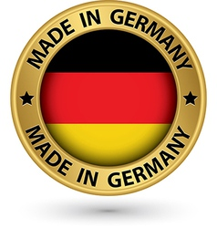 Made in germany gold label vector