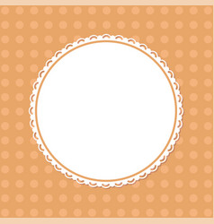 modern page template with round ornamental frame vector image