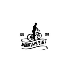 mountain bike vector image