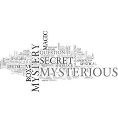 Mysterious word cloud concept vector
