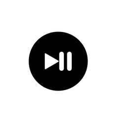 pause icon button symbol vector image