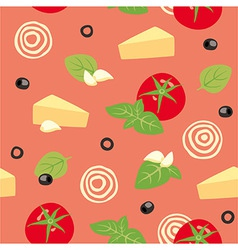 Pizza Marinara Ingredients vector