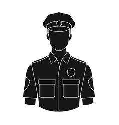 policemanprofessions single icon in black style vector image
