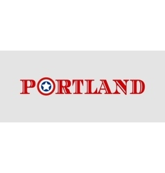 Portland city name with flag colors vector image