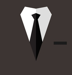 Professional suit flat poster vector image