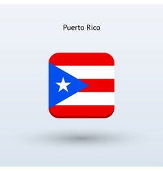 Puerto Rico flag icon vector