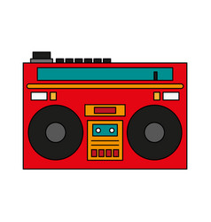 radio retro old icon vector image