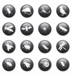 rodent and pest buttons vector image