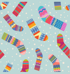 Seamless christmas stocking pattern vector