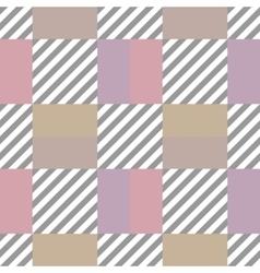Seamless geometric checkered pattern Stripy vector image
