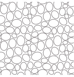 seamless geometric pattern outline of eggs vector image