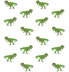 seamless pattern hand drawn tyrannosaur vector image