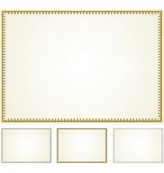 set border frames vector image