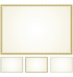 Set of border frames vector