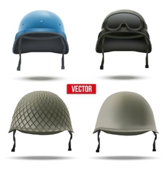 Set of Military helmets vector image