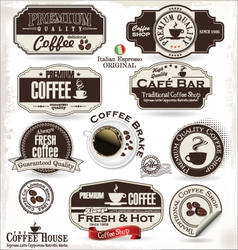 Set of Retro Vintage coffee labels vector