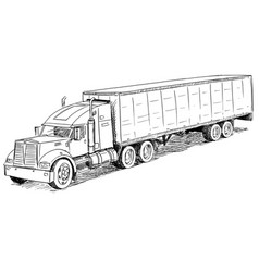 Sketch drawing of truck vector