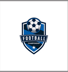 soccer logo design football logo badge design vector image