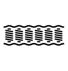 Spring mattress vector