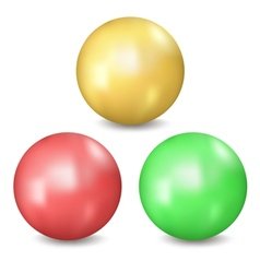 Three balls vector image