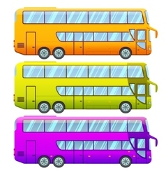 Touristic Double Decker Sightseeing Bus Collection vector