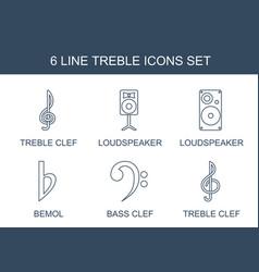 Treble icons vector