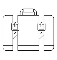 Trip leather bag icon outline style vector