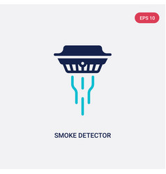 Two color smoke detector icon from electronic vector