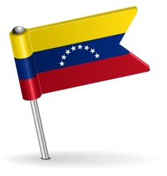 Venezuelan pin icon flag vector image