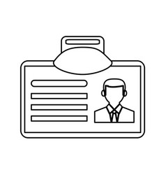 work id card icon image vector image