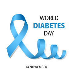 World diabetes day concept background realistic vector