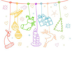 xmas card vector image