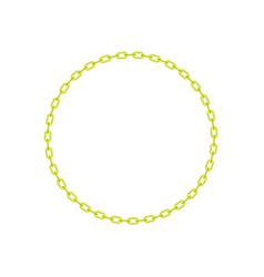 Yellow chain in shape of circle vector