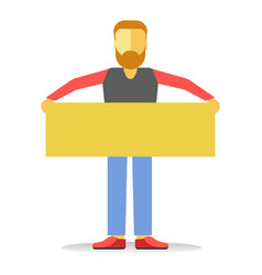 anonymous faceless striking man with beard holding vector image vector image