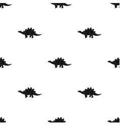 Dinosaur stegosaurus icon in black style isolated vector
