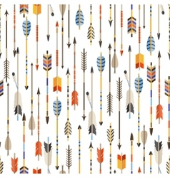 Ethnic seamless pattern with indian arrows in vector