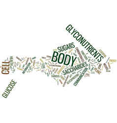 Glyconutrients the new frontier in science text vector