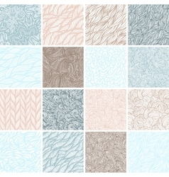Set of sixteen seamless patterns vector image vector image
