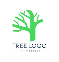 tree logo original design green eco bio badge vector image