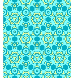 abstract geometric yellow blue seamless pattern vector image