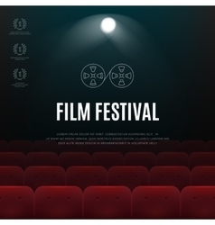 Cinema film festival abstract poster vector image vector image