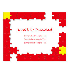 jigsaw puzzle frames 1 red vector image vector image