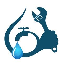Water drop plumbing repairs vector image