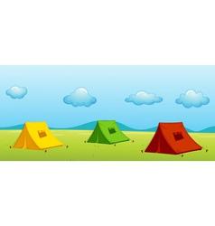 3 tents vector image vector image